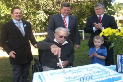 Mr Webber turns 100